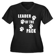 Leader of the Pack Women's Plus Size V-Neck Dark T