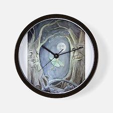 Cute Luna moon Wall Clock