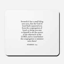 NUMBERS  16:9 Mousepad
