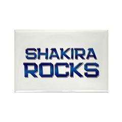 shakira rocks Rectangle Magnet (10 pack)