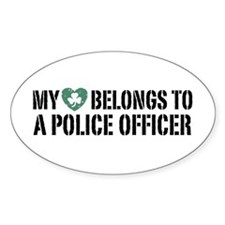 My Heart Belongs to a Police Officer Decal