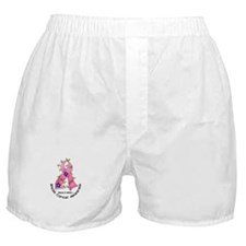 Flower Ribbon BREAST CANCER Boxer Shorts