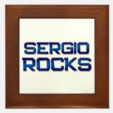 sergio rocks Framed Tile