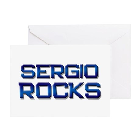 sergio rocks Greeting Card