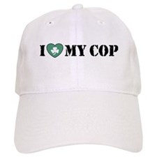 I Love My Cop Baseball Cap