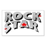 Rock Star Rectangle Sticker