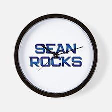 sean rocks Wall Clock