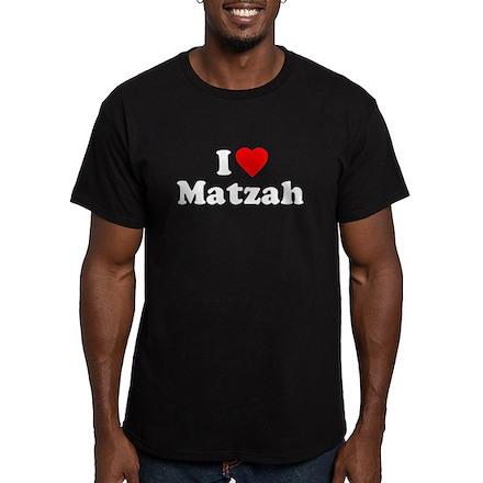 I Love [Heart] Matzah Mens Fitted Dark T-Shirt