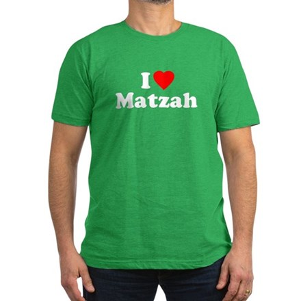 I Love [Heart] Matzah Mens Fitted Dark T-Shirt