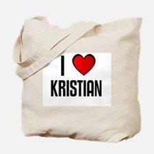 I LOVE KRISTIAN Tote Bag