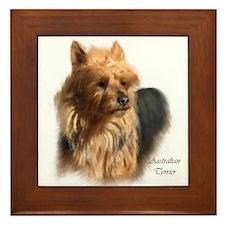 Australian Terrier Art Framed Tile