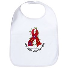 Flower Ribbon HIV AIDS Bib