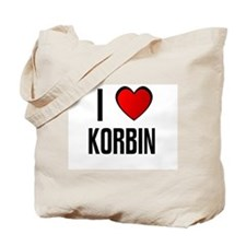 I LOVE KORBIN Tote Bag