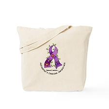 Flower Ribbon ALZHEIMERS Tote Bag