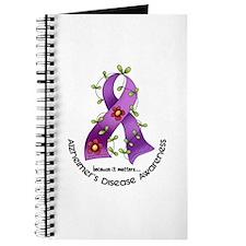 Flower Ribbon ALZHEIMERS Journal