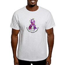 Flower Ribbon ALZHEIMERS T-Shirt