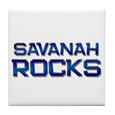 savanah rocks Tile Coaster