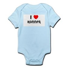 I LOVE KONNER Infant Creeper
