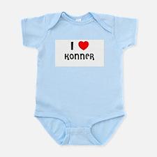 I LOVE KONNER Infant Creeper