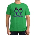 Just Married Formal Lesbian Men's Fitted T-Shirt (