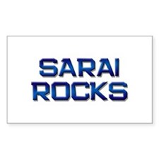 sarai rocks Rectangle Decal