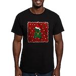 Christmas Bear Men's Fitted T-Shirt (dark)