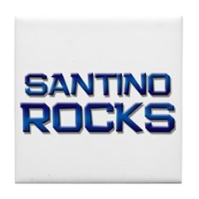santino rocks Tile Coaster