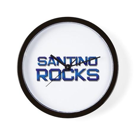 santino rocks Wall Clock