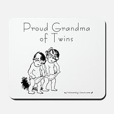 Proud Grandma of Twins BG Mousepad