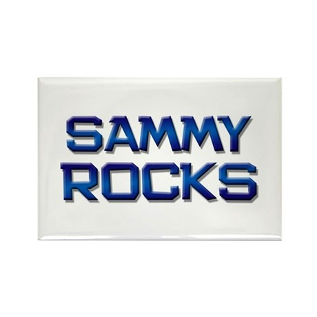 sammy rocks Rectangle Magnet