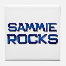 sammie rocks Tile Coaster
