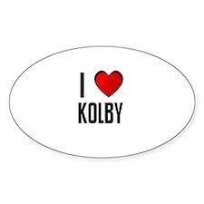 I LOVE KOLBY Oval Decal