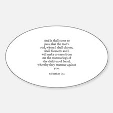 NUMBERS 17:5 Oval Decal