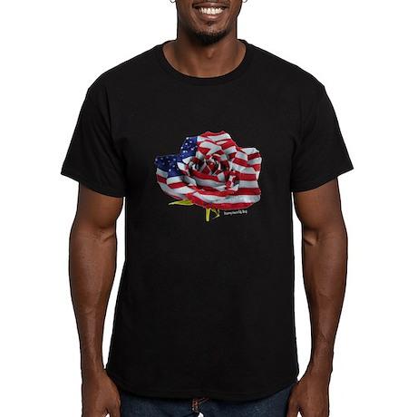 American Rose Men's Fitted T-Shirt (dark)