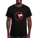 No Half-Assed Men's Fitted T-Shirt (dark)