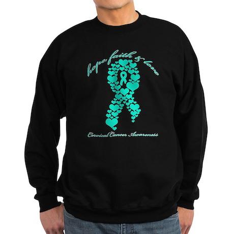 Cervical Cancer Awareness Sweatshirt (dark)