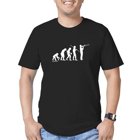 Trombone Evolution Men's Fitted T-Shirt (dark)