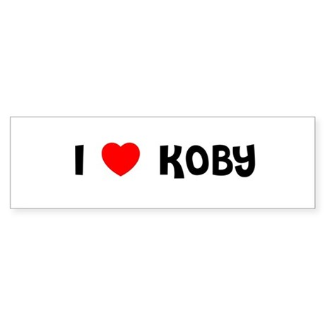 I LOVE KOBY Bumper Sticker