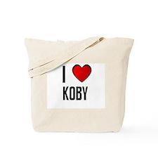 I LOVE KOBY Tote Bag