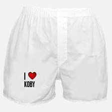 I LOVE KOBY Boxer Shorts