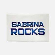 sabrina rocks Rectangle Magnet