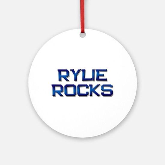 rylie rocks Ornament (Round)