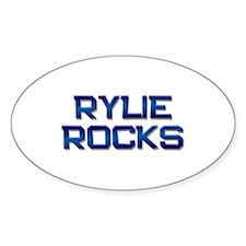 rylie rocks Oval Decal