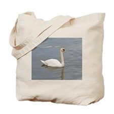 Pure White Swan Tote Bag