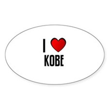 I LOVE KOBE Oval Decal
