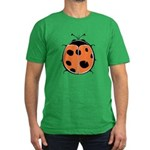 Cute Round Ladybug Men's Fitted T-Shirt (dark)