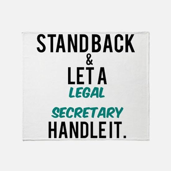 Legal Secretary Throw Blanket
