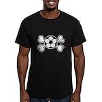 Soccer Ball Crossbones Design Men's Fitted T-Shirt