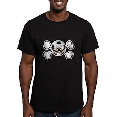 Angry Soccer Ball Crossbones T