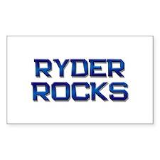 ryder rocks Rectangle Decal